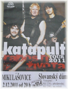 Plakát pozvánka na koncert skupiny Katapult