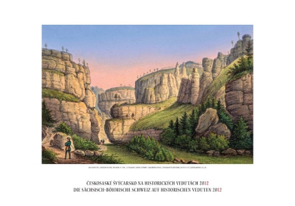 Nástěnný kalendář Českosaského Švýcarska pro rok 2012 zdobí výjimečné grafické listy z 1. poloviny 19. století.