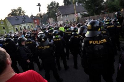 Na Šluknovsku by měl vzniknout základ speciální pořádkové jednotky pro celý Ústecký kraj s téměř dvěma stovkami policistů. Foto: gdo