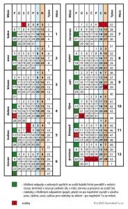Svozový kalendář pro tříděný odpad r. 2014