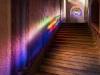 Svaté schody v ambitu Lorety v Rumburku, postranní sestupové schodiště, foto Jiří Stejskal