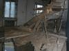 Zřícený strop v administrativní budově bývalého podniku Bytex zavalil muže. Ten svým zraněním na místě podlehl. Foto: gdo